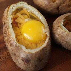 Idaho Sunrise: Egg-Stuffed Baked Potatoes