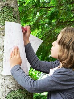 Maple tree rubbing Canada Flag craft for kids #canada #nature #flags