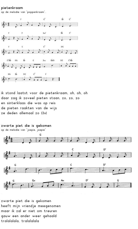Liedje Ik Stond Laatst Voor De Pietenkraam Liedje