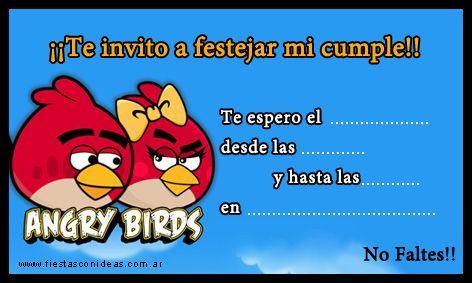 Tarjeta de cumpleaños de angry-birds-chica-roja