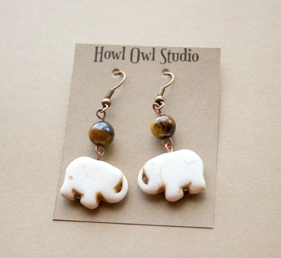 Elephant earrings to support WWF Canada by HowlOwl on Etsy.