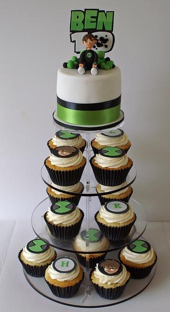 LOVE THIS! | Ben 10 cake | Ben 10 Cupcake Tower