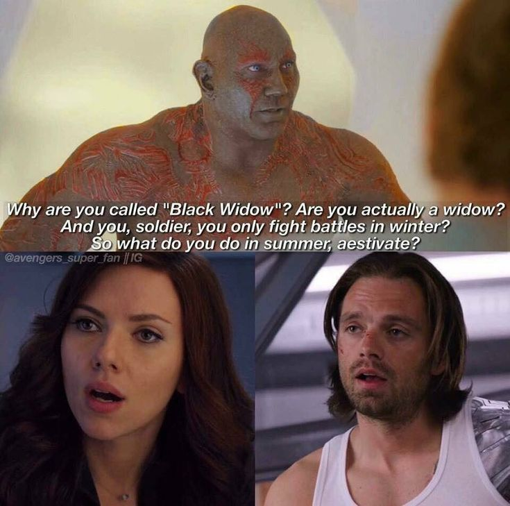 Nat: I actually can't believe he said that he's worser that's Tony's jokes if it was a joke. Wheee as Bucky is wth wait what are your on about