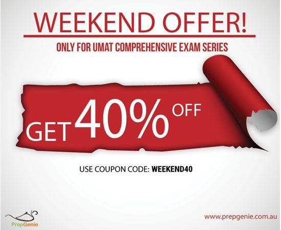 Get 40% Discount on UMAT Comprehensive Series using coupon code: weekend40  #umat #umatprep