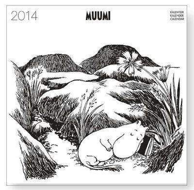 Mumin Väggalmanacka 2014 (Svartvit)