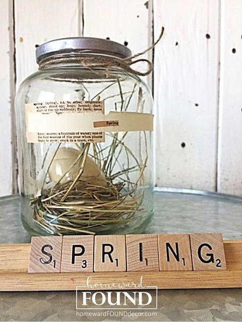 Capture Spring in a Jar!homewardFOUNDdecor