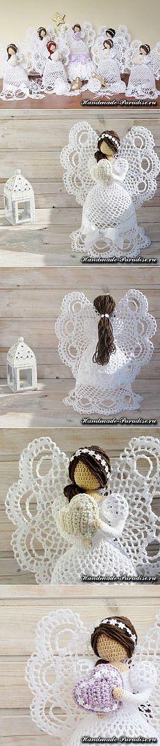 Ажурные ангелы крючком. Схемы - Handmade-Paradise