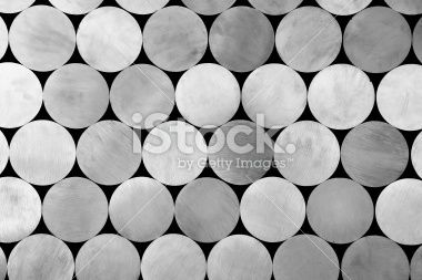 piled aluminium rods Royalty Free Stock Photo