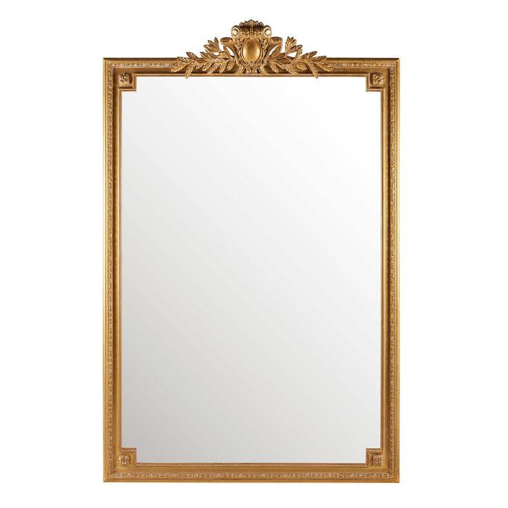 Spiegel mit goldfarbenen Zierleisten 120x185cm VICTOIRE