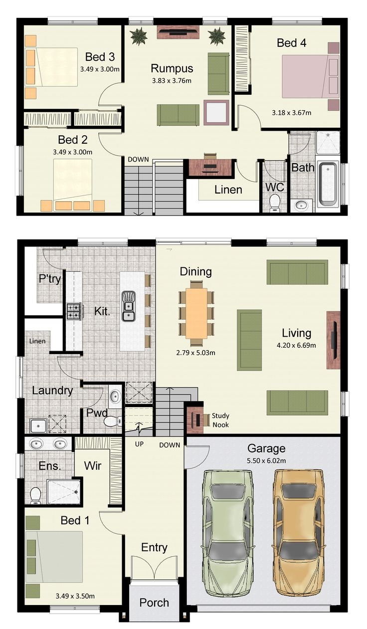 1000 ideas about split level house plans on pinterest Floor plans for sloping blocks