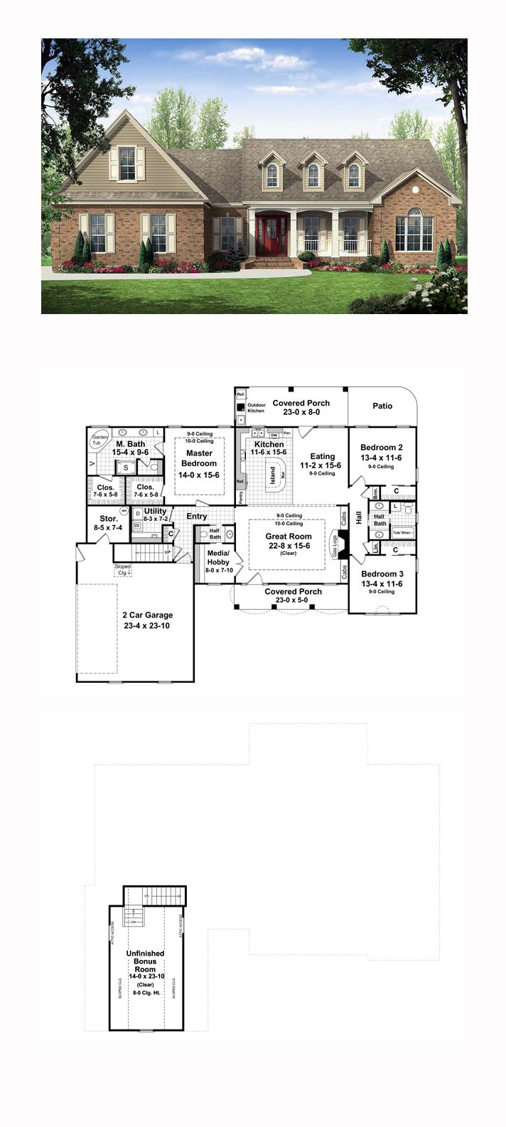 Country Traditional House Plan 59114 171 best
