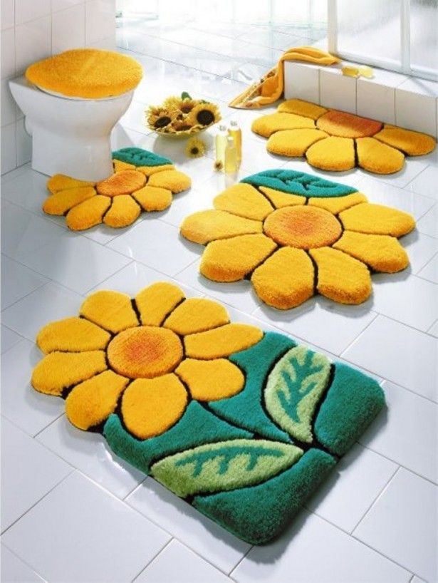 For modern 4 Piece Bathroom Rug Set, custom made modern art and paintings  can be - 4 Piece Rug Set Roselawnlutheran