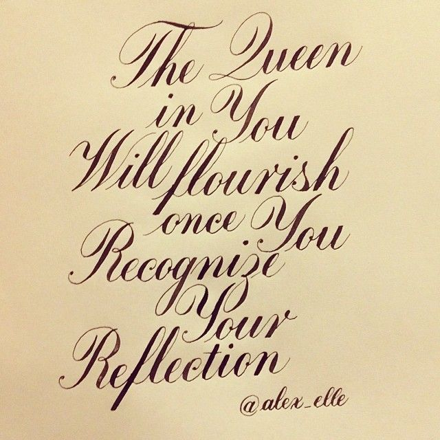 """The Queen in you will flourish once you recognize your reflection."" – Alexandra Elle ©zelide"