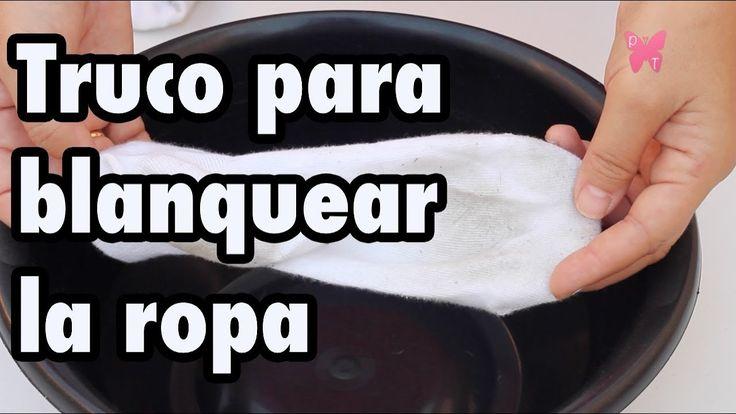 Cómo blanquear la ropa blanca y eliminar las manchas