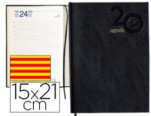Tapa dura forrada y encuadernada. Impresa en papel ahuesado a 2 tintas, papel de 60 g/m2. Contenido: Calendario trienio, santoral, distancia...