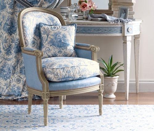 #Armchair, fabric Pierre Deux