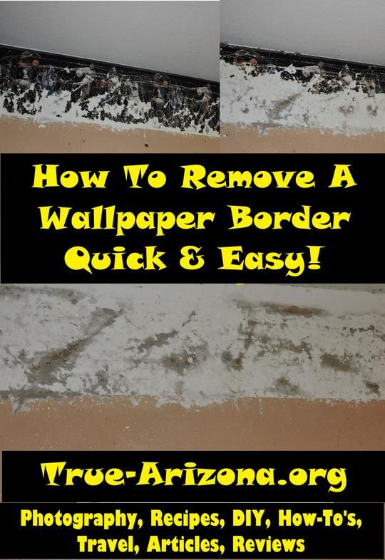 How To Remove a Wallpaper Border Quick & Easy-DIY Step by Step w/ Pictures -Home Improvement Article If you've ever had to remove wallpaper, or a border, ...