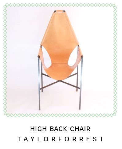 HIGH BACK CHAIR TAYLORFORREST.COM Taylor Forrest Leather And Metal Sling  Chair 2013