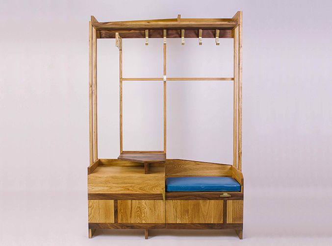 """Прихожая """"Odyssey"""". Hallway furniture """"Odyssey"""" Fly Massive millworks. Solid oak and american walnut. Brass supplies. Tung oil finish.  Массив дуба и американского ореха. Латунная фурнитура. Отделка тунговым маслом. Мастерская Fly Massive. #fly_massive #flymassive #fly_massive_millworks #workshop #joinery #woodworker #tools #wood #joinery_workshop #millworks #furniture #modernism #constructivism #woodporn #design #russian #interior #designer #home #decor #woodworking #oak #walnut #brass…"""
