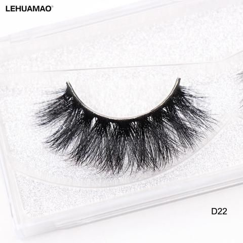 bb9d1fce6d3 LEHUAMAO False Eyelashes 3D Mink Lashes Natural Volume Handmade Mink False  Eyelashes Thick Full Strip Lashes Cruelty Free D22