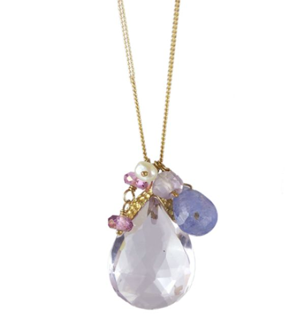 Amethyst Yellow Gold Pendant