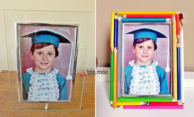 DIY: Customizando um porta retrato com lápis de cor
