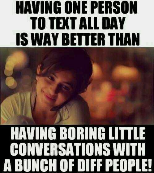 Really .. I talk with everyone even if it boring but its fun