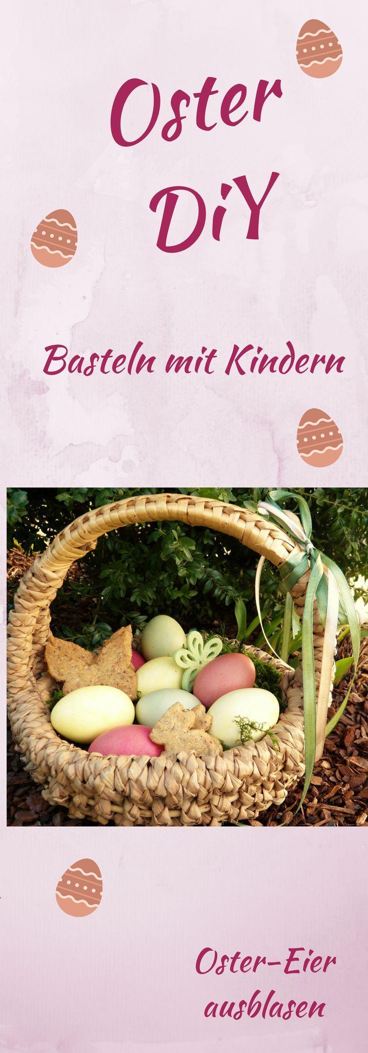 Ostereier färben, wir machen es bunt! Basteln mit Kind. Diy, Ostern, Eier ausblasen. #mama #familie #ostern