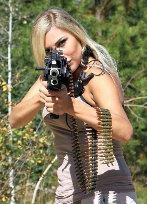 Reply))) The hot girls with machine guns that would