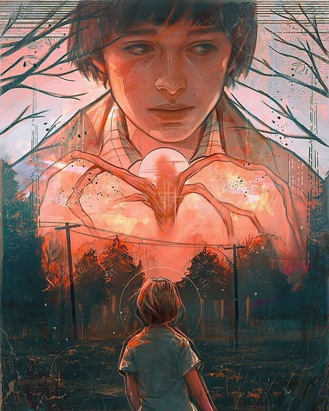 "(@strangerthingsposts) on Instagram: ""Will Byers art by @holepsi  #noahschnapp"