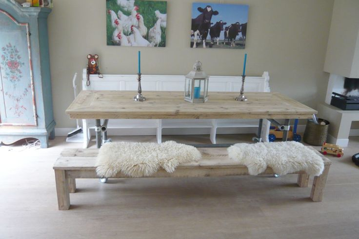1000 images about bankje on pinterest tes pallet wood and crates - Traditionele bed tafel ...