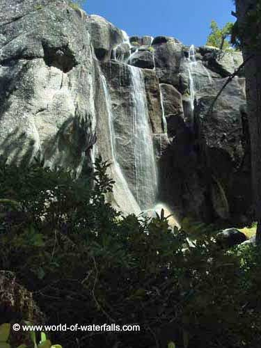 This small waterfall preceded the unofficially named 'Mattie Falls', Yosemite National Park / Grand Canyon of the Tuolumne River / near Glen Aulin, California, USA