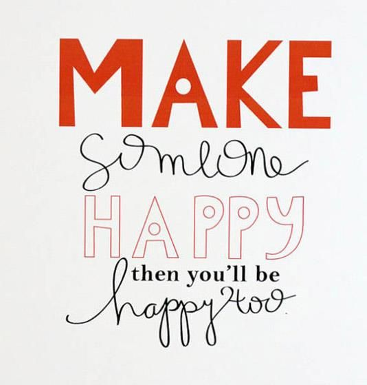 """""""Make someone happy - then you'll be happy too"""". Quote. #christmascountdown"""