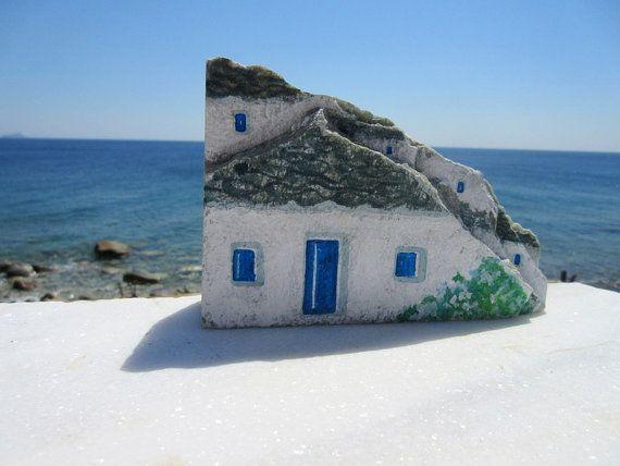 Original Rock Art Handpainted Stones OOAK Painted Rocks Stone Home Decor Pebble Art Scene FREE SHIPPING