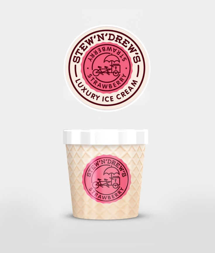 Stew'n'Drew's Ice Cream Container Design Resembles a Real Cone #food trendhunter.com