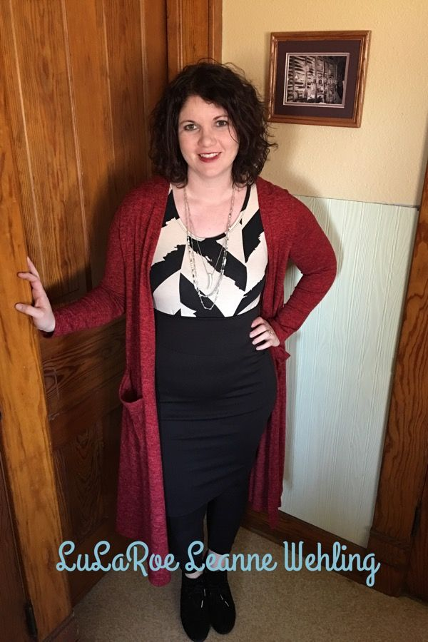 LuLaRoe Cassie Skirt, Classic Tee and Sarah Cardigan as maternity wear Https://m.facebook.com/groups/lularoeleannewehling Lularoeleannewehling@gmail.com