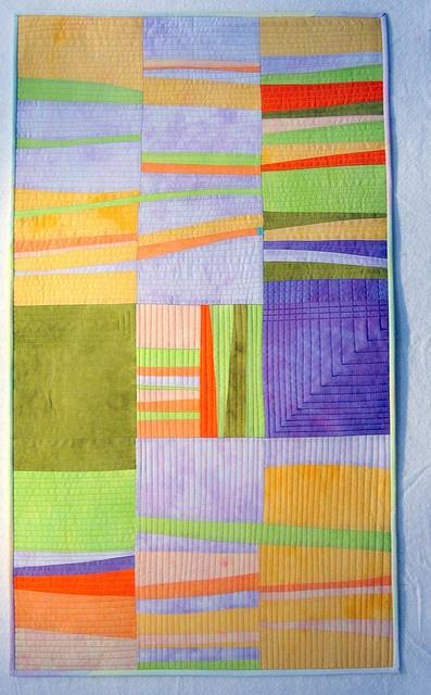Sorbet art quilt