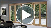Folding Sliding Doors, 7ft BiFold Door, Oak Hardwood Folding Door | Creative Doors