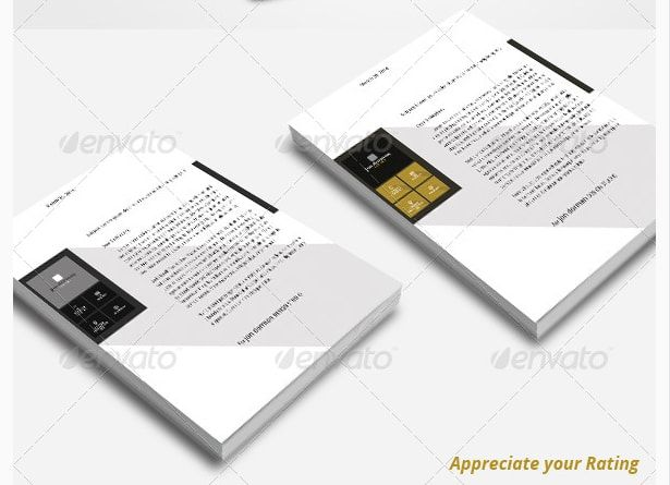 15 Best 15+ Creative Professional Letterhead Template Word Images