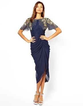 Virgos Lounge Denise Midi Dress with Embellished Shoulder - is it wrong that i like this? Could look really nasty or actually amazing!