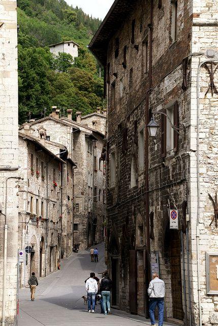 Via dei Consoli, Gubbio, Umbria, Italy