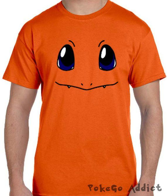 90d16aaa Charmander Face Pokemon Go Cosplay Parody T-Shirt * Sizes 2T - 6XL* Ladies  Sizes * Charmeleon * Charizard * Mystic * Valor * Instinct