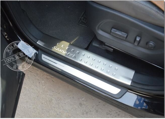 78 99 Buy Here Http Alimx9 Worldwells Pw Go Php T 32758823445 Car Accessories Door Sill Scuff Plate Fit For Hyundai Grand Santafe 2013 2014 20