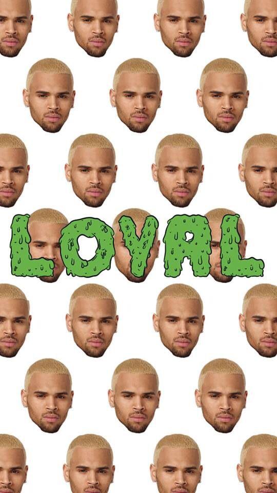 Wallpaper Loyal Chris Brown iPhone 5s