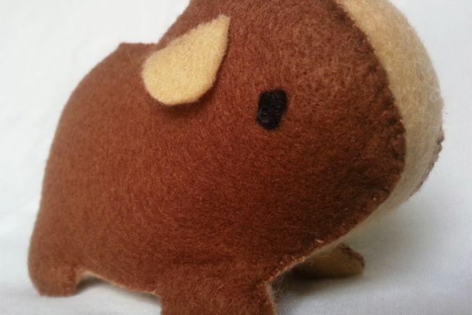 Handmade felt Guinea Pig by Imagine Them - R120