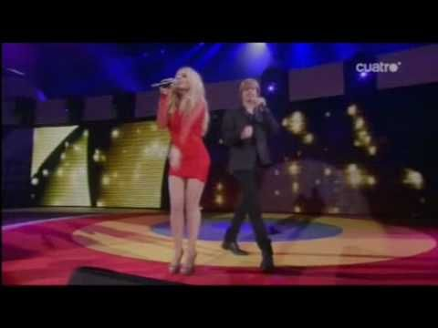 """Marta Sánchez y Carlos Baute · Colgando en tus manos · Premios """" 40 Principales """""""