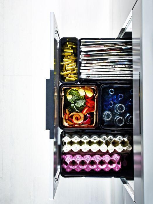 VARIERA / UTRUSTA afvalscheiding voor kast | #IKEA #DagRommel #keukenkast #keuken #prullenbak