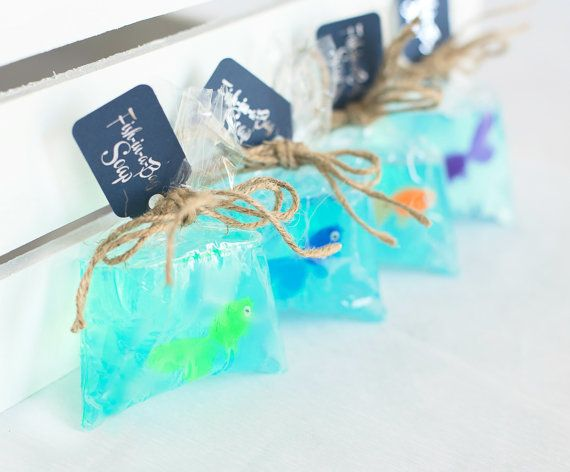 Fish In A Bag Soap  Kids Soap  by TheSeaGlassSeahorse