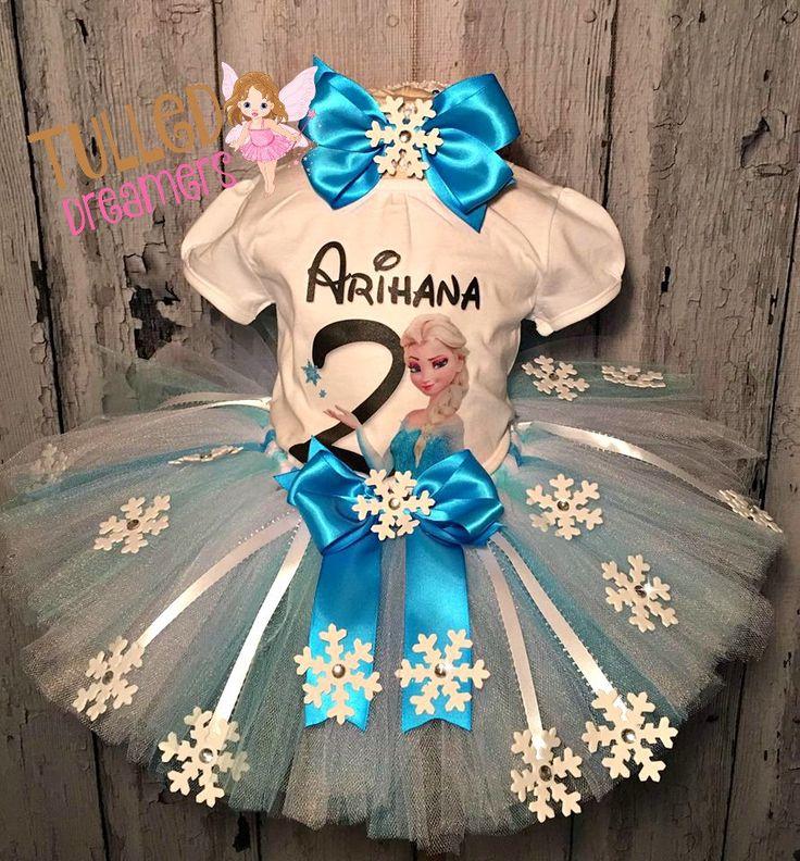 Frozen Birthday Outfit,Frozen Tutu,Frozen Birthday,Frozen Birthday Tutu Outfit,Disney Frozen Clothing,Frozen Theme Outfit,Elsa Birthday Tutu by TulledDreamers on Etsy