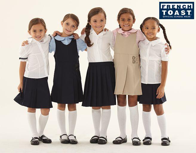 French Toast Girls' Pleated Skirt Jefferies Socks Girls School Uniform Cable Knit Knee High Socks 2 Pair Pack French Toast Girls' Long Sleeve Pointed Collar Short.